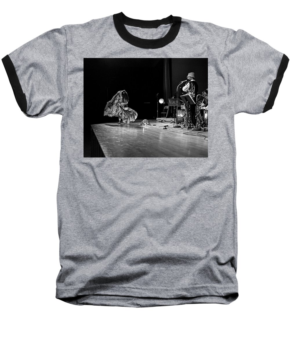 Jazz Baseball T-Shirt featuring the photograph Sun Ra Arkestra At Freeborn Hall by Lee Santa