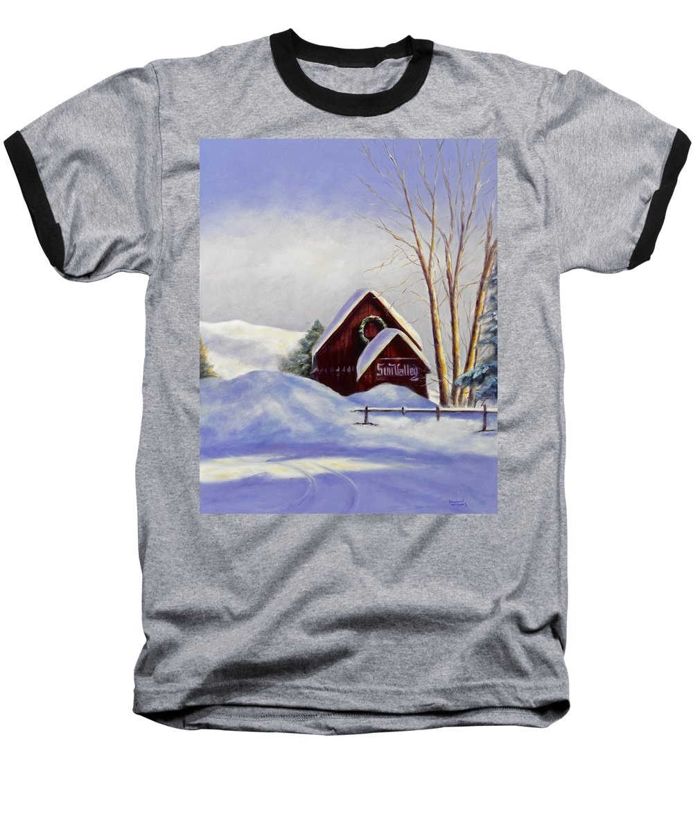 Landscape Baseball T-Shirt featuring the painting Sun Valley 2 by Shannon Grissom