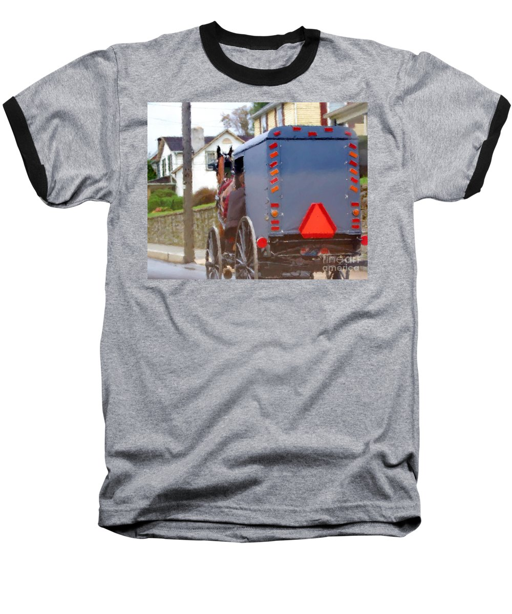 Amish Baseball T-Shirt featuring the photograph Sunday Courting by Debbi Granruth