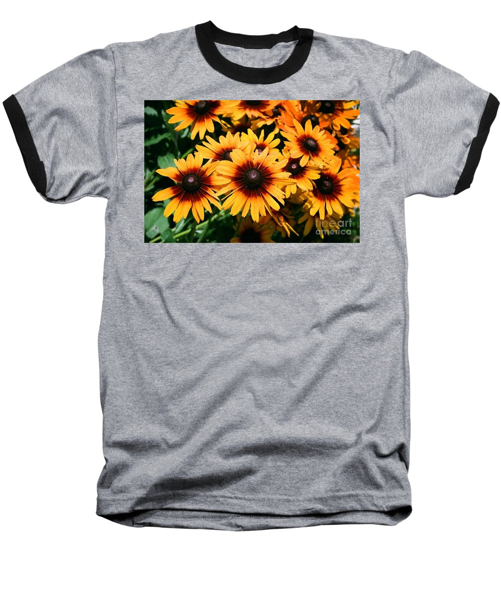 Sunflowers Baseball T-Shirt featuring the photograph Sunflowers by Dean Triolo