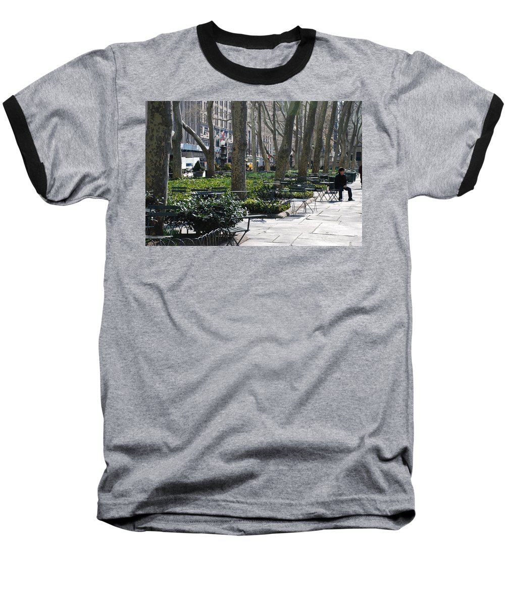 Parks Baseball T-Shirt featuring the photograph Sunny Morning In The Park by Rob Hans