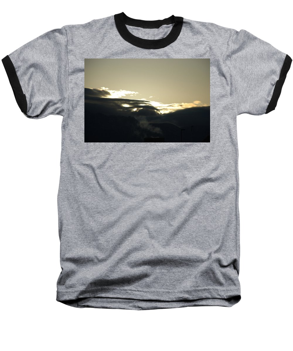 Sunrise Baseball T-Shirt featuring the photograph Sunrise Over The Sandias by Rob Hans