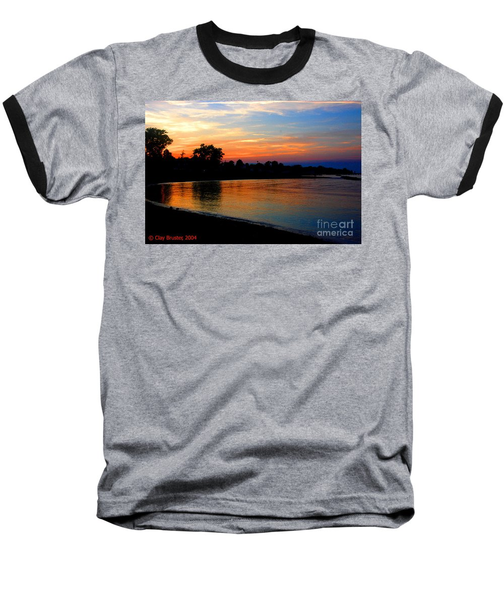 Clay Baseball T-Shirt featuring the photograph Sunset At Colonial Beach Cove by Clayton Bruster