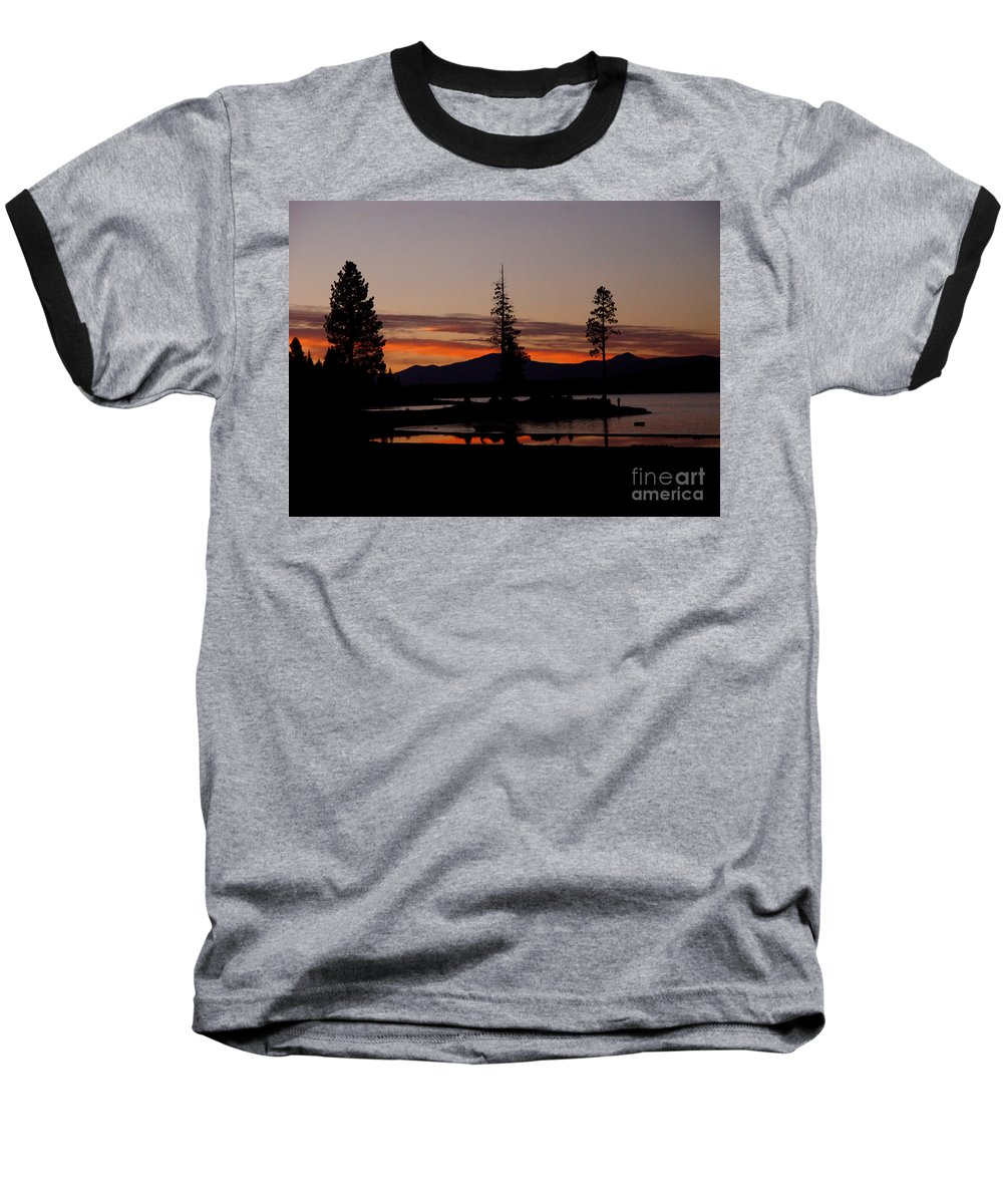 Lake Almanor Baseball T-Shirt featuring the photograph Sunset At Lake Almanor 02 by Peter Piatt