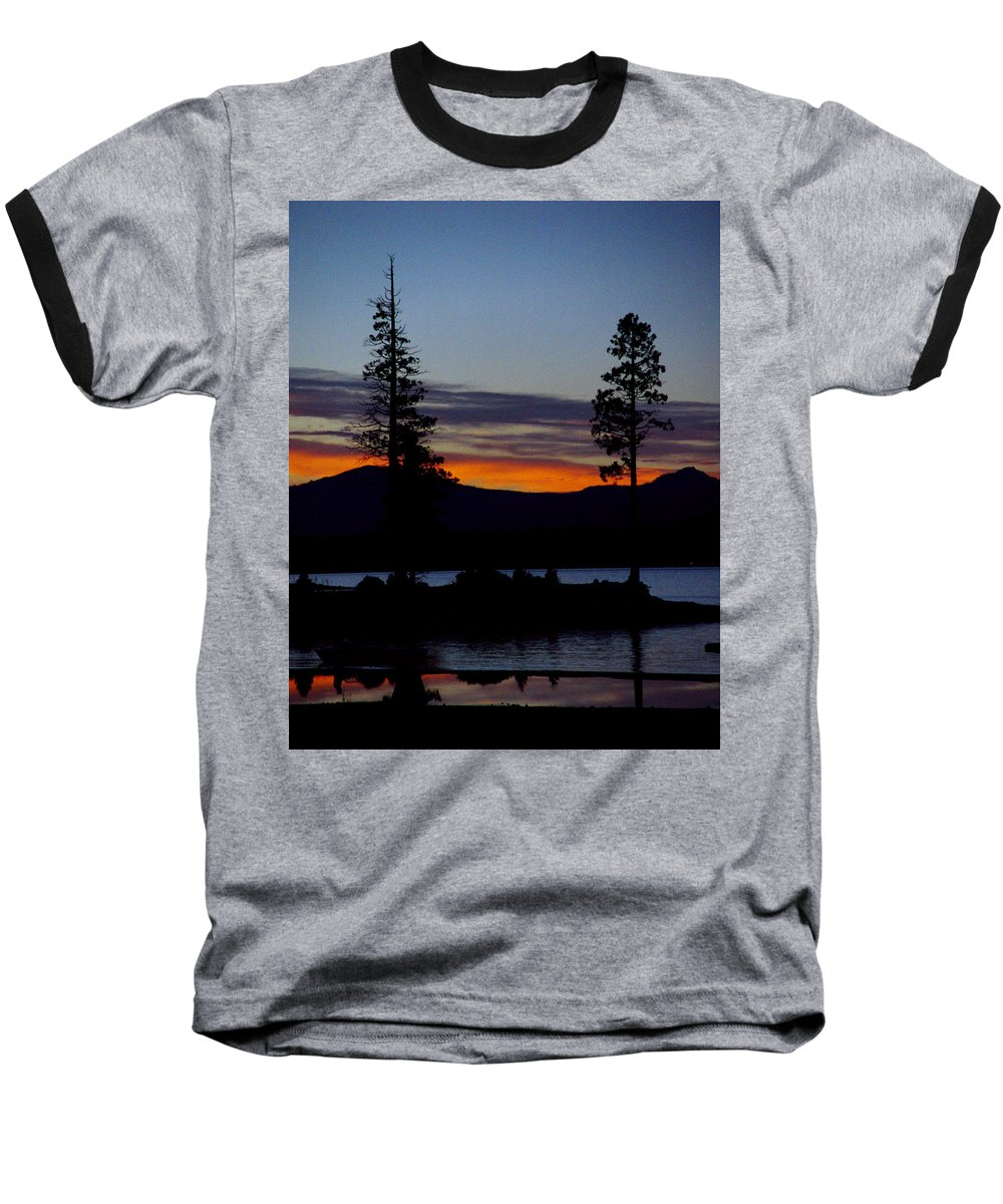 Lake Almanor Baseball T-Shirt featuring the photograph Sunset At Lake Almanor by Peter Piatt