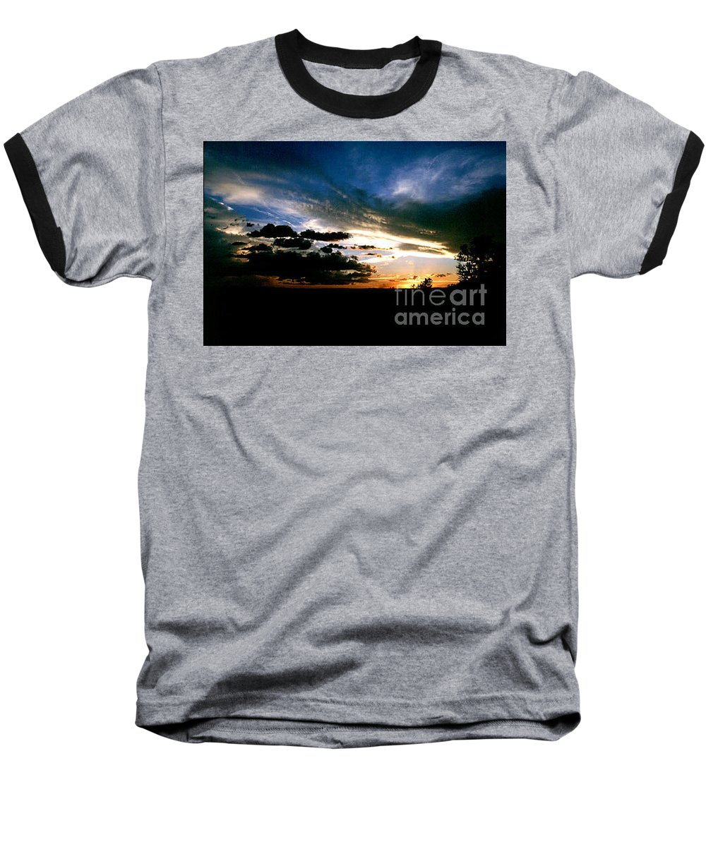 Sunset Baseball T-Shirt featuring the photograph Sunset At The North Rim by Kathy McClure