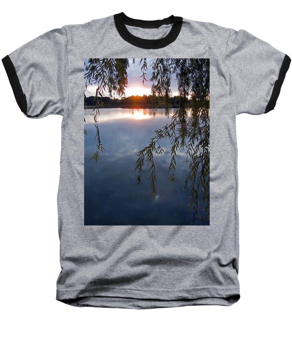 Nature Baseball T-Shirt featuring the photograph Sunset by Daniel Csoka