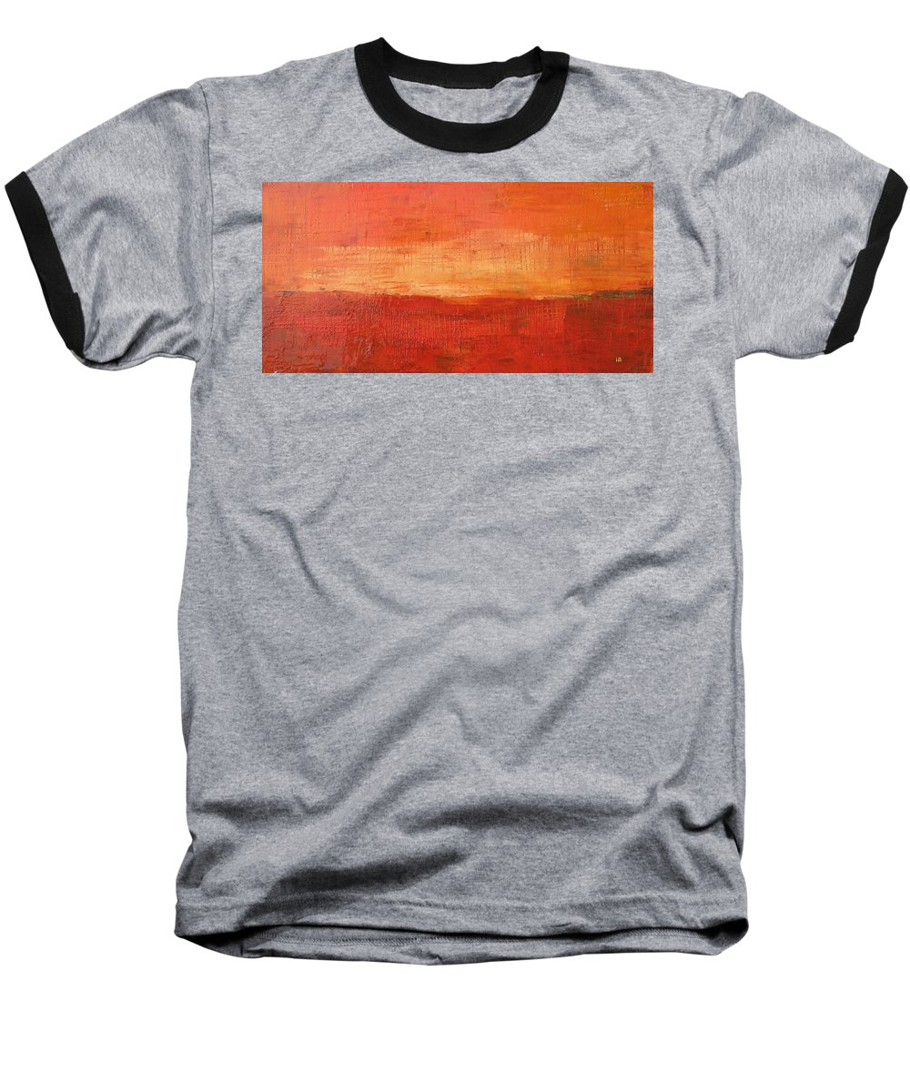 Abstract Baseball T-Shirt featuring the painting Sunset by Habib Ayat