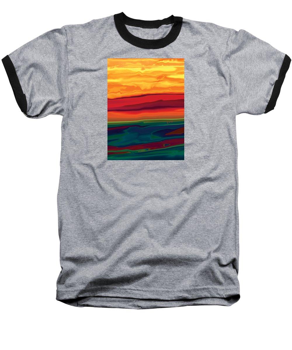 Art Baseball T-Shirt featuring the digital art Sunset In Ottawa Valley 1 by Rabi Khan