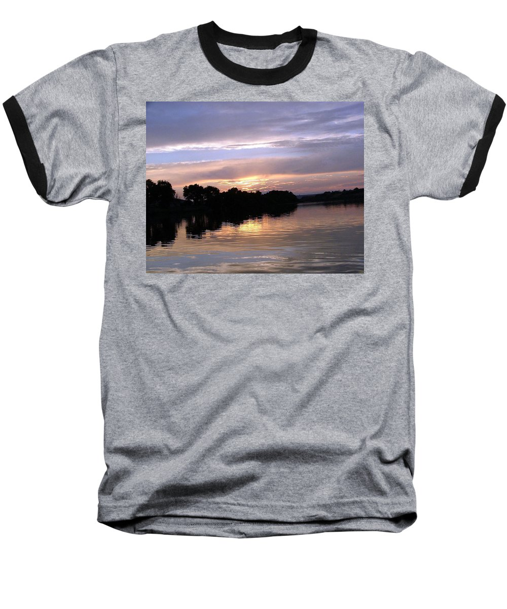 Snake River Baseball T-Shirt featuring the photograph Sunset On The Snake by Dawn Blair