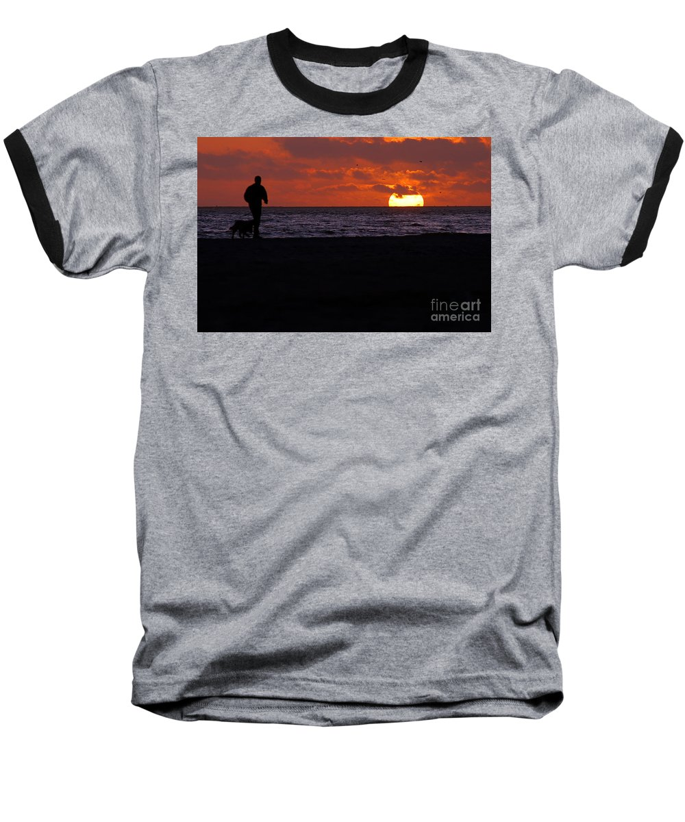 Clay Baseball T-Shirt featuring the photograph Sunset Run by Clayton Bruster
