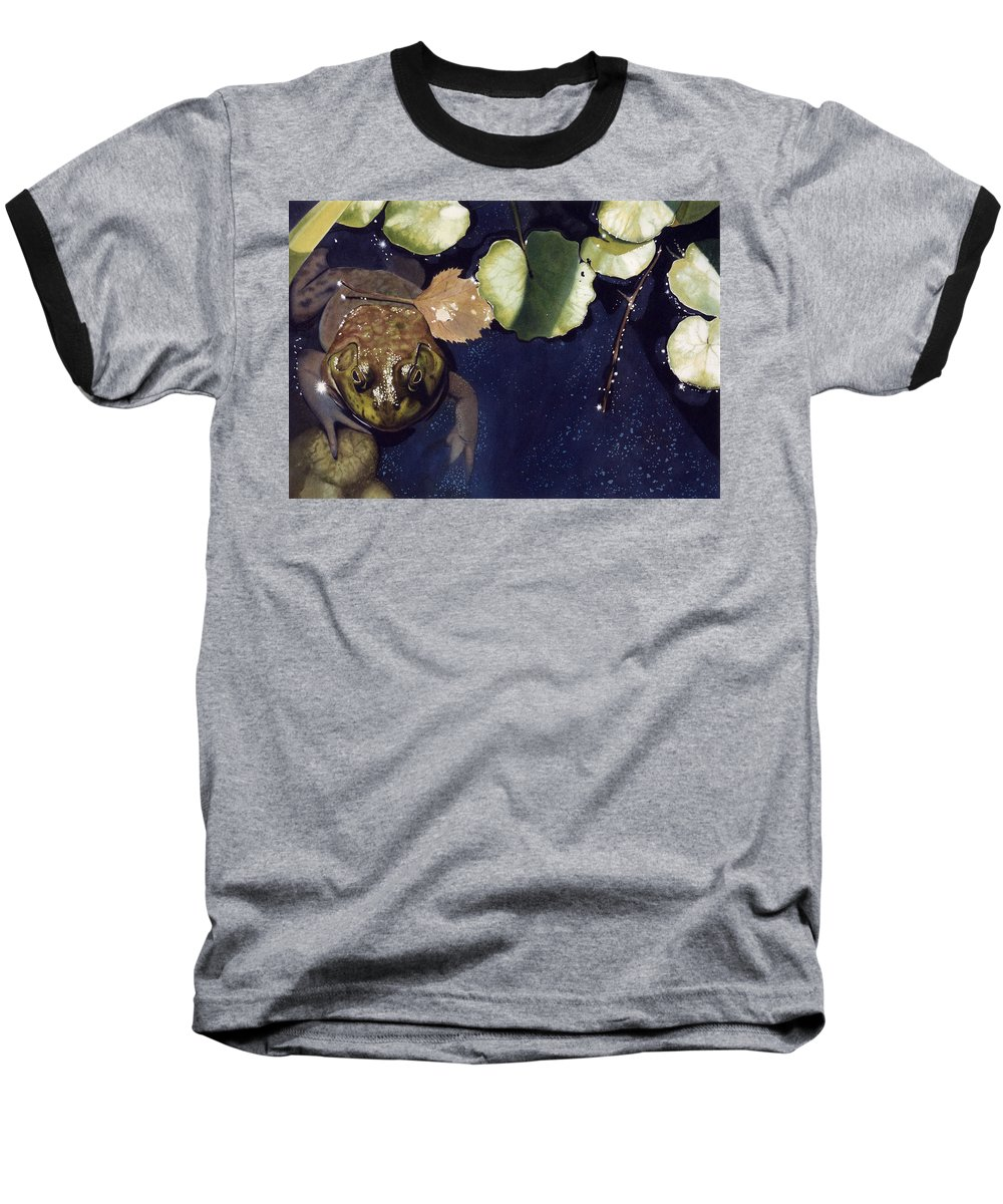 Frog Baseball T-Shirt featuring the painting Sunspots by Denny Bond