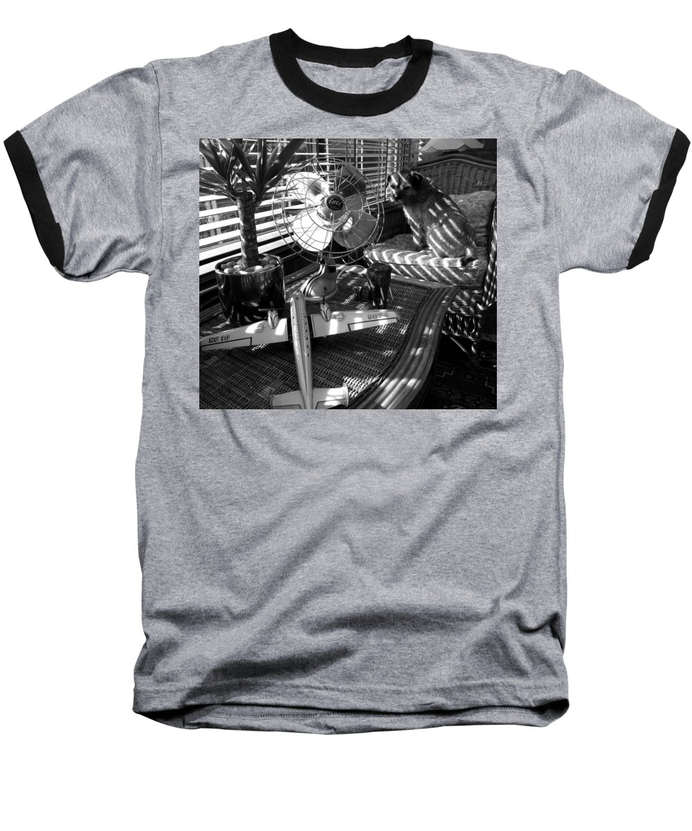 Still Life Baseball T-Shirt featuring the painting Surburban Safari With Toto by Charles Stuart