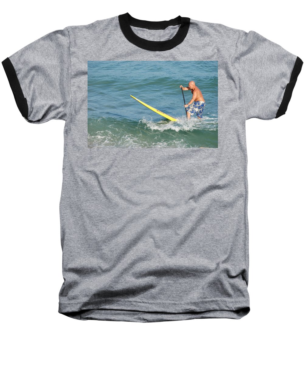 Sea Scape Baseball T-Shirt featuring the photograph Surfer Dude by Rob Hans