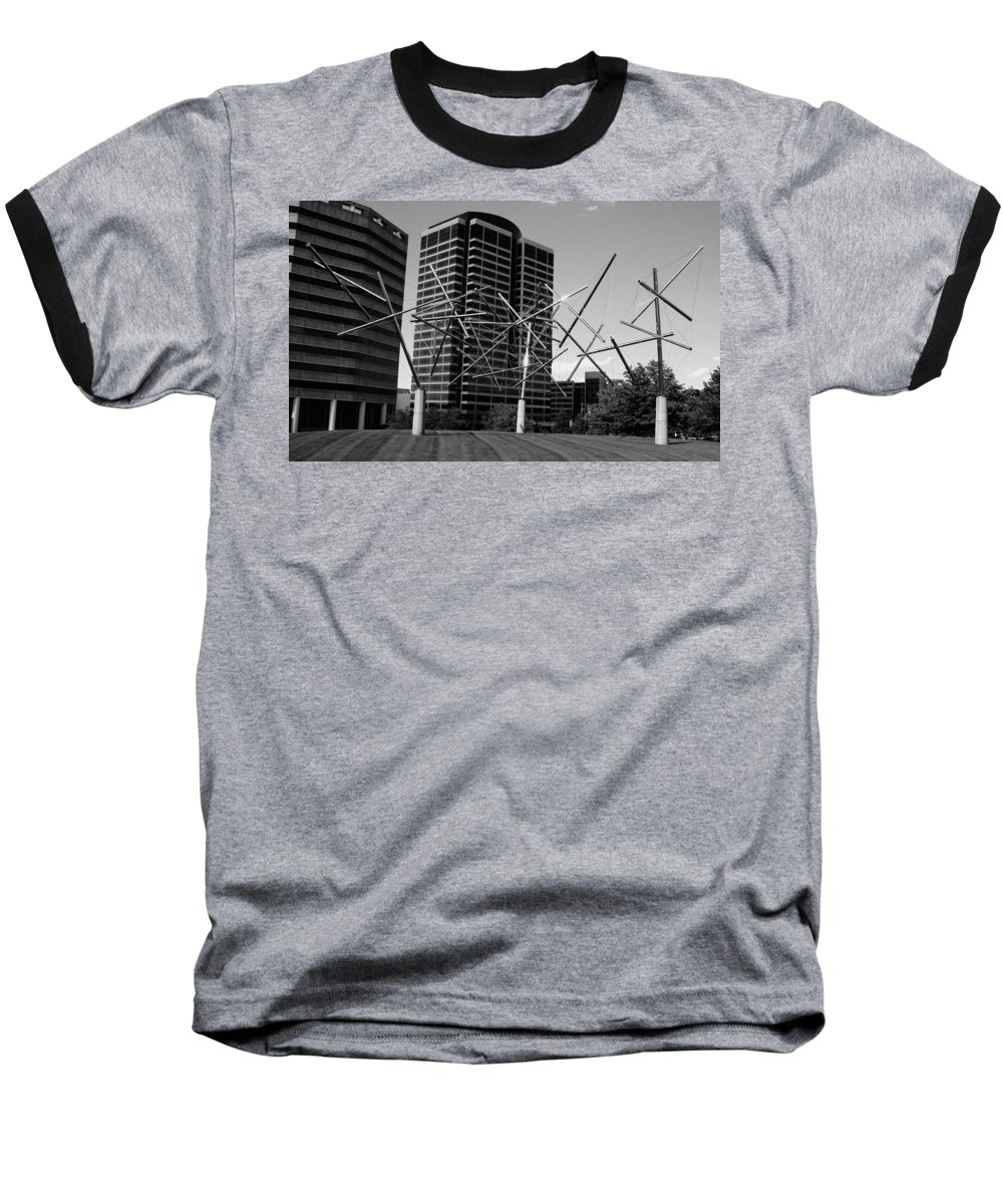 Metal Baseball T-Shirt featuring the photograph Suspended by Angus Hooper Iii