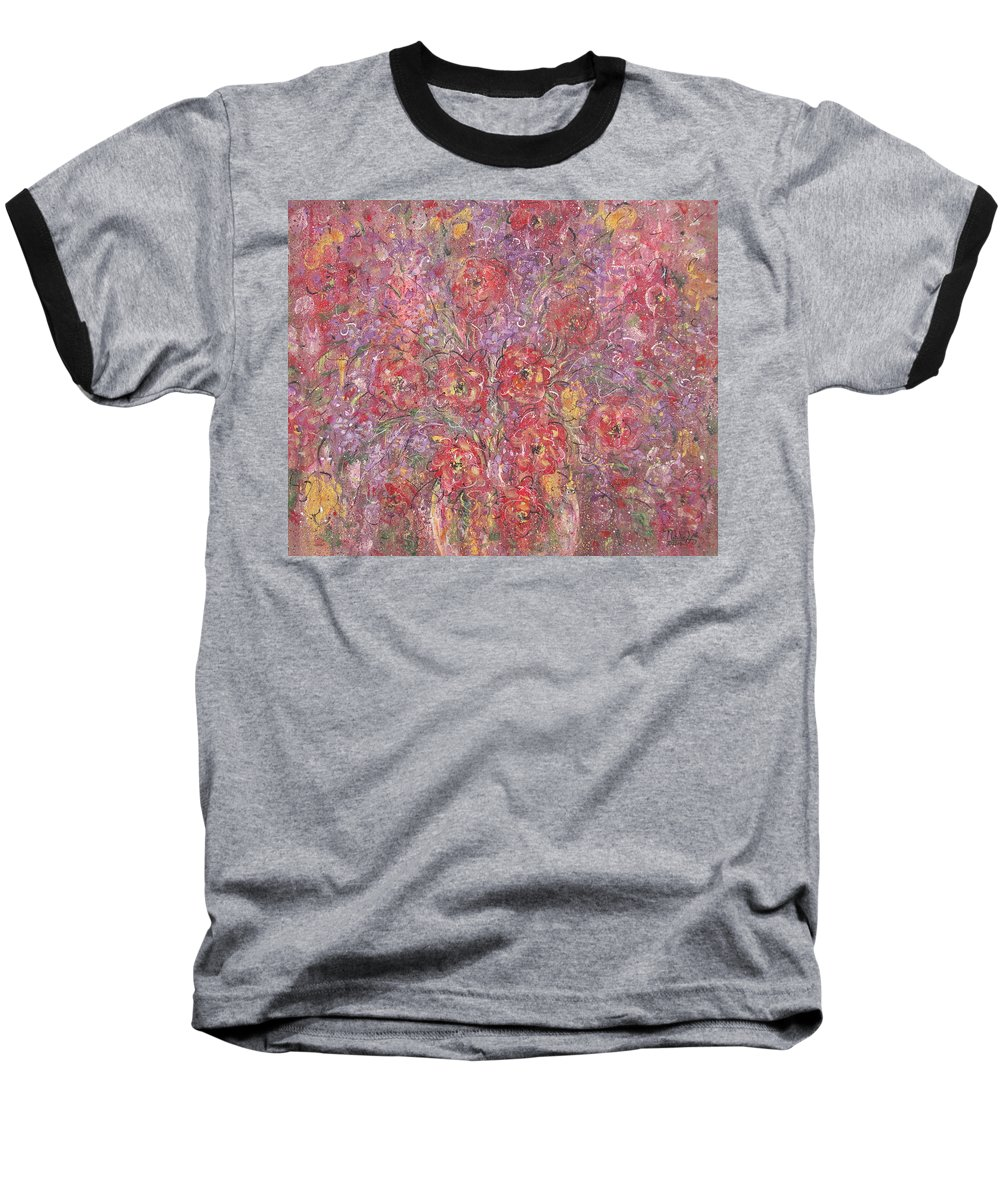 Still Life Baseball T-Shirt featuring the painting Sweet Memories by Natalie Holland
