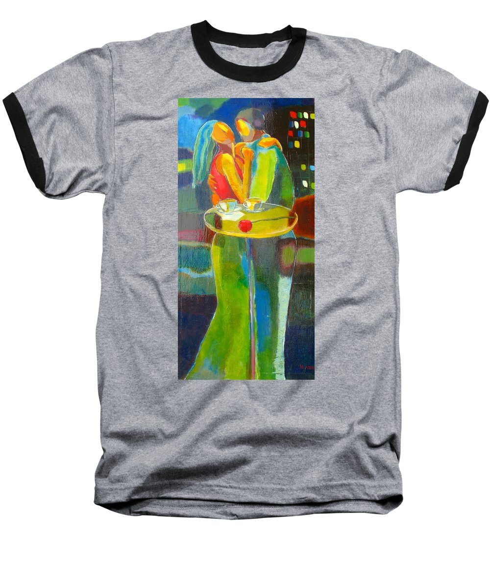 Love Baseball T-Shirt featuring the painting Sweet Moment by Habib Ayat