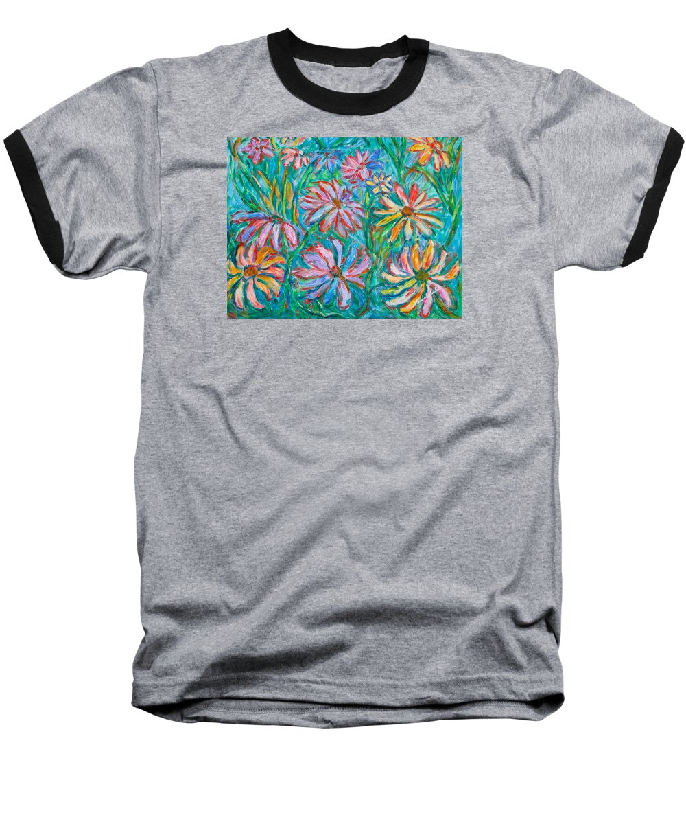 Impressionist Baseball T-Shirt featuring the painting Swirling Color by Kendall Kessler