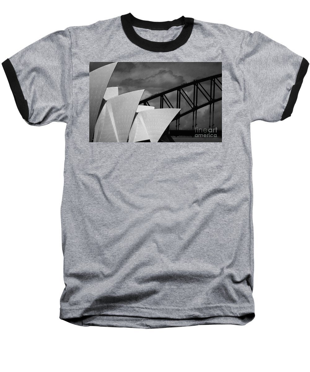 Sydney Opera House Baseball T-Shirt featuring the photograph Sydney Opera House With Harbour Bridge by Sheila Smart Fine Art Photography