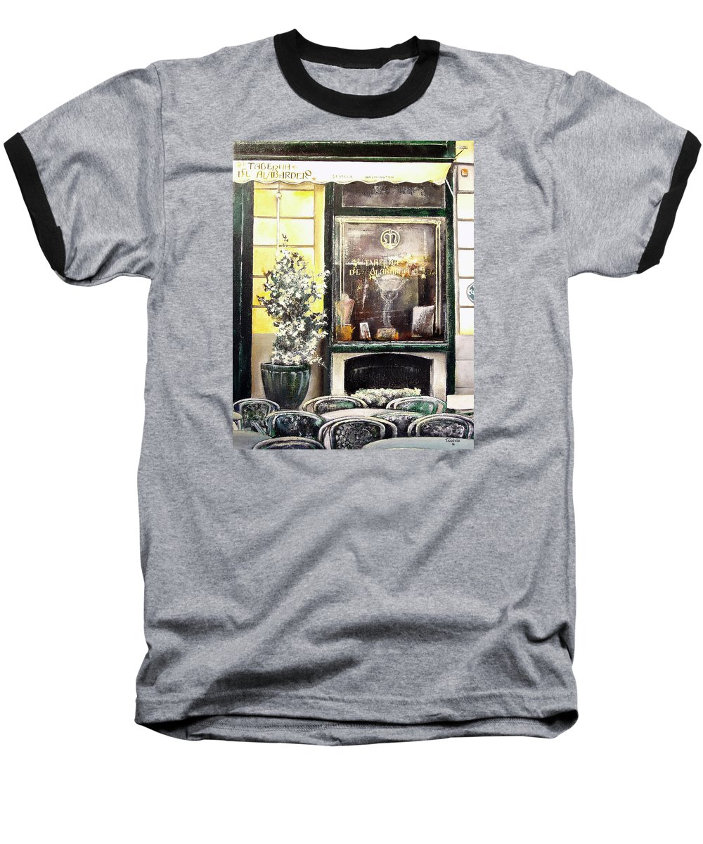 Old Baseball T-Shirt featuring the painting Taberna Del Alabardero-madrid by Tomas Castano