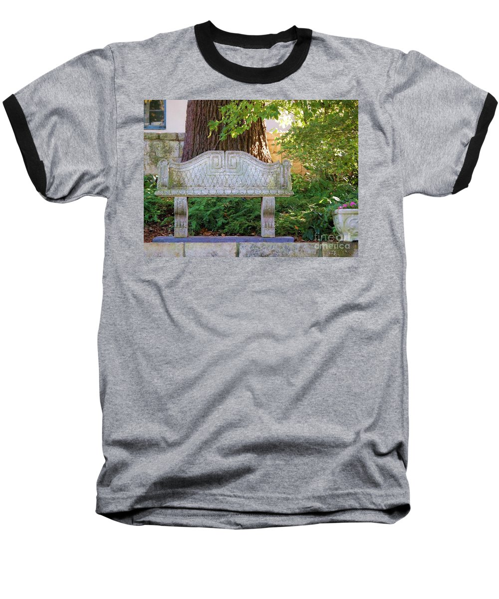 Bench Baseball T-Shirt featuring the photograph Take A Break by Debbi Granruth