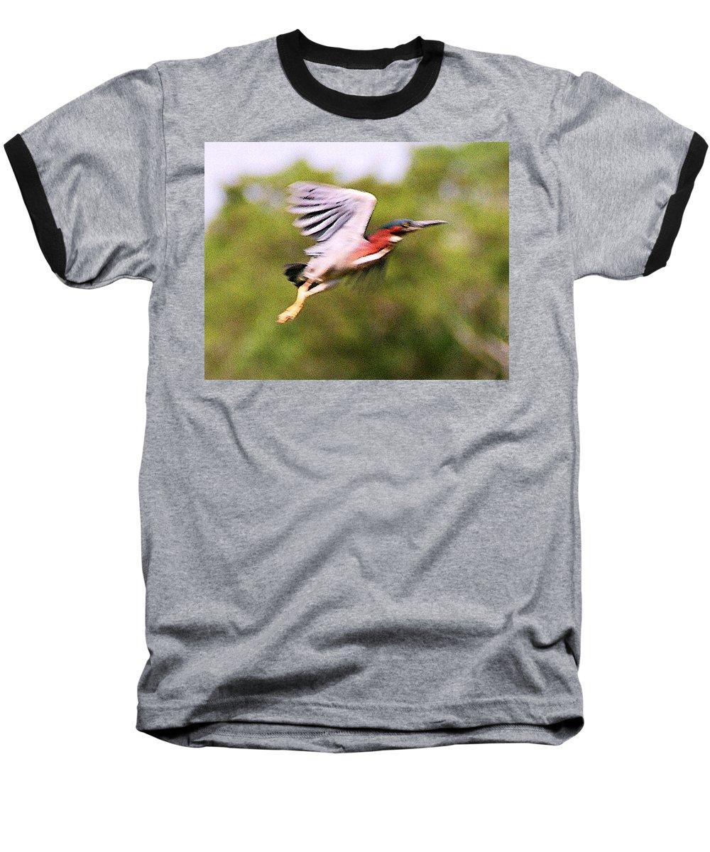 Wild Life Baseball T-Shirt featuring the digital art Take Off by Steve Karol