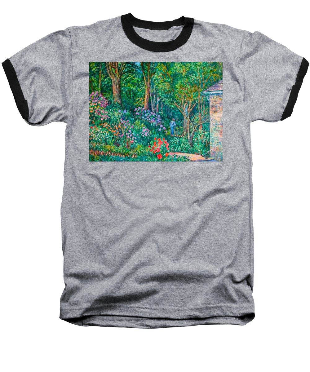 Suburban Paintings Baseball T-Shirt featuring the painting Taking A Break by Kendall Kessler