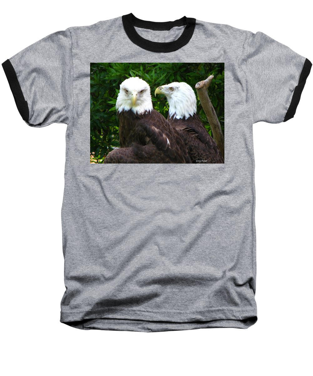 Baseball T-Shirt featuring the photograph Talking To Me by Greg Patzer
