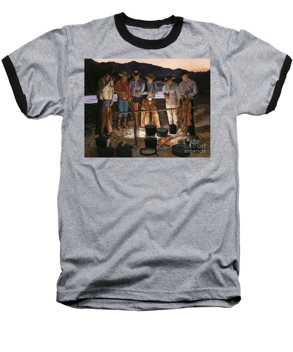 Arizona Baseball T-Shirt featuring the painting Tall Tales by Mary Rogers