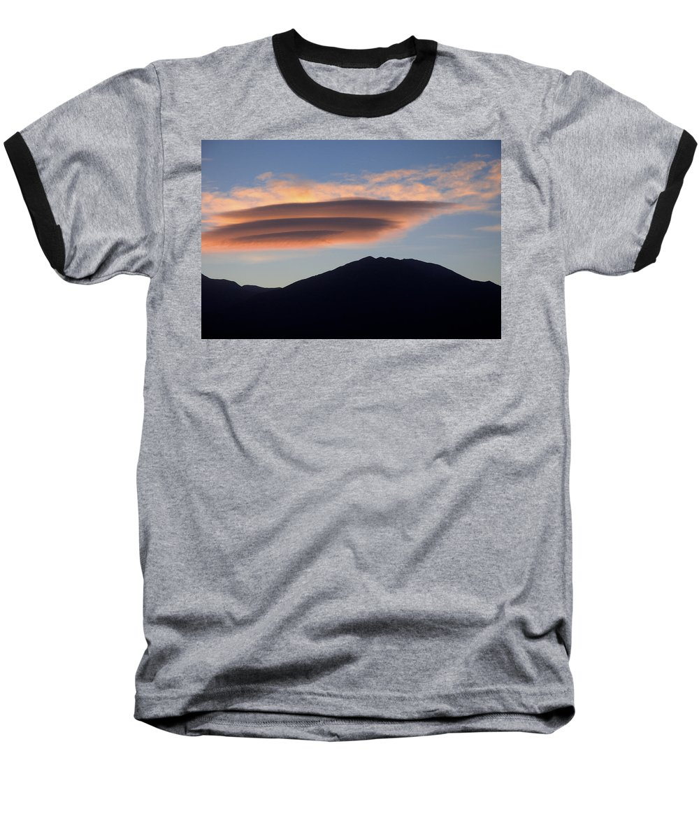 Taos Baseball T-Shirt featuring the photograph Taos Sunset by Jerry McElroy