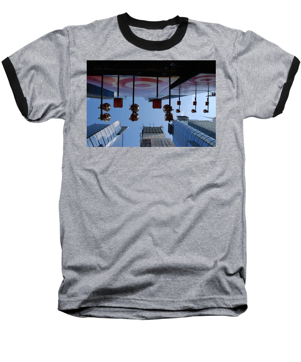 Architecture Baseball T-Shirt featuring the photograph Target Lights by Rob Hans