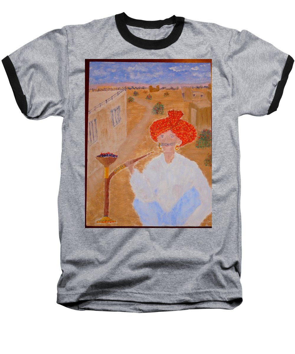 People Baseball T-Shirt featuring the painting Tau by R B