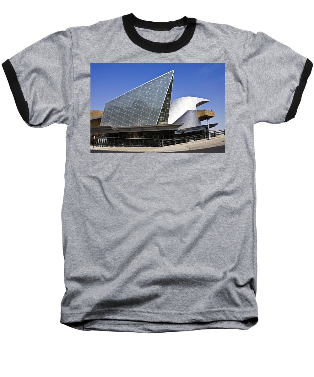 Roanoke Baseball T-Shirt featuring the photograph Taubman Museum Of Art Roanoke Virginia by Teresa Mucha