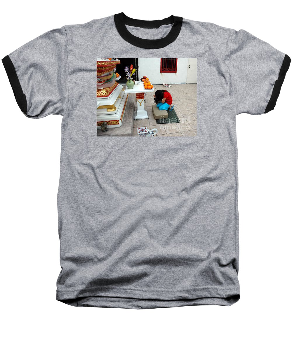 Child Baseball T-Shirt featuring the photograph Temple Prayer by Michael Ziegler