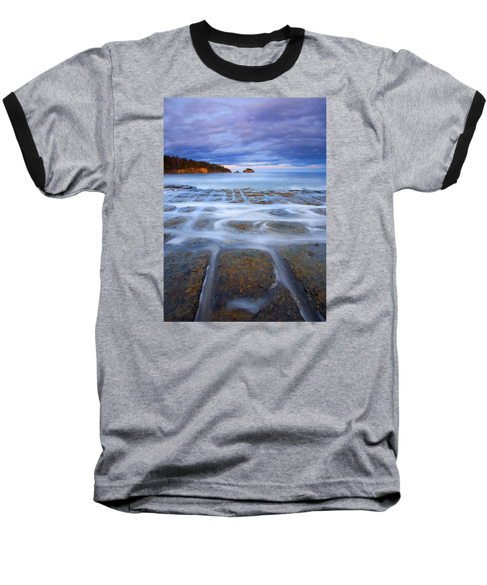 Sunset Baseball T-Shirt featuring the photograph Tesselated Sunset by Mike Dawson