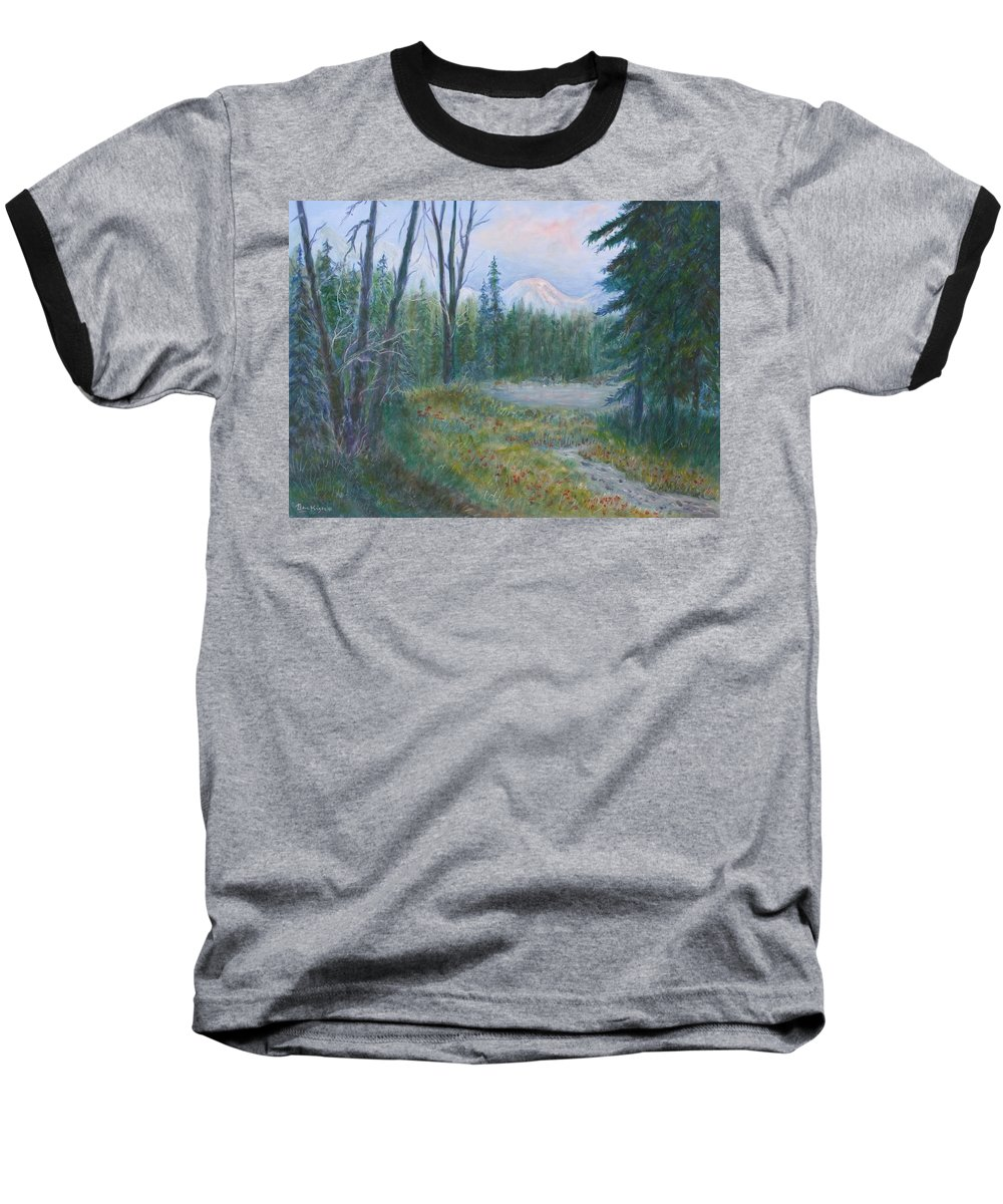 Landscape Baseball T-Shirt featuring the painting Teton Valley by Ben Kiger