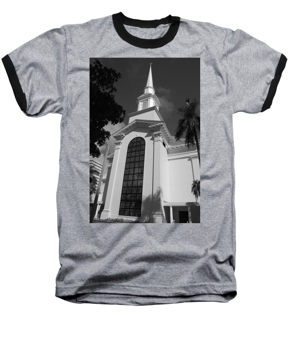 Architecture Baseball T-Shirt featuring the photograph Thats Church by Rob Hans