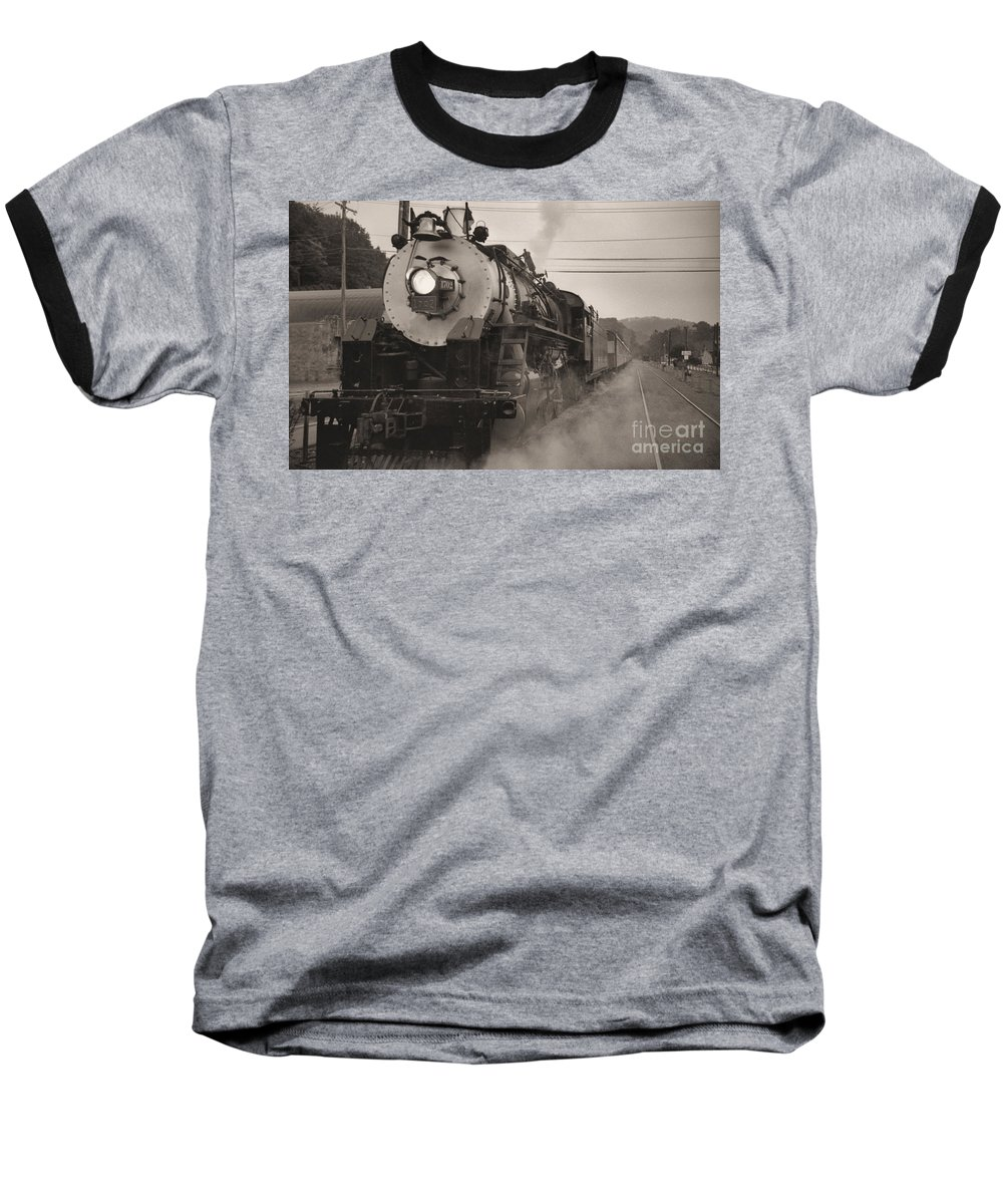 Trains Baseball T-Shirt featuring the photograph The 1702 At Dillsboro by Richard Rizzo