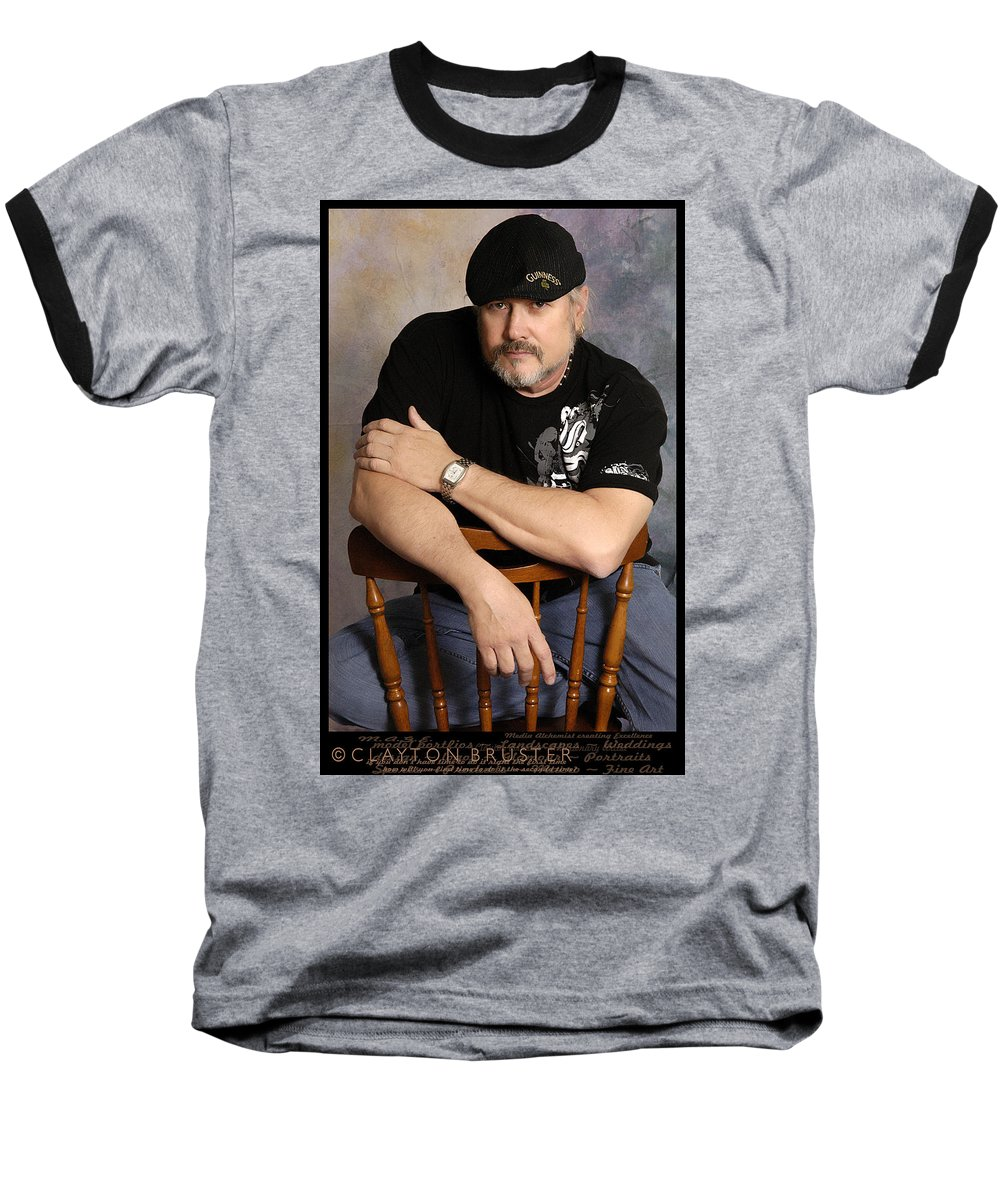 Clay Baseball T-Shirt featuring the photograph The Artist by Clayton Bruster