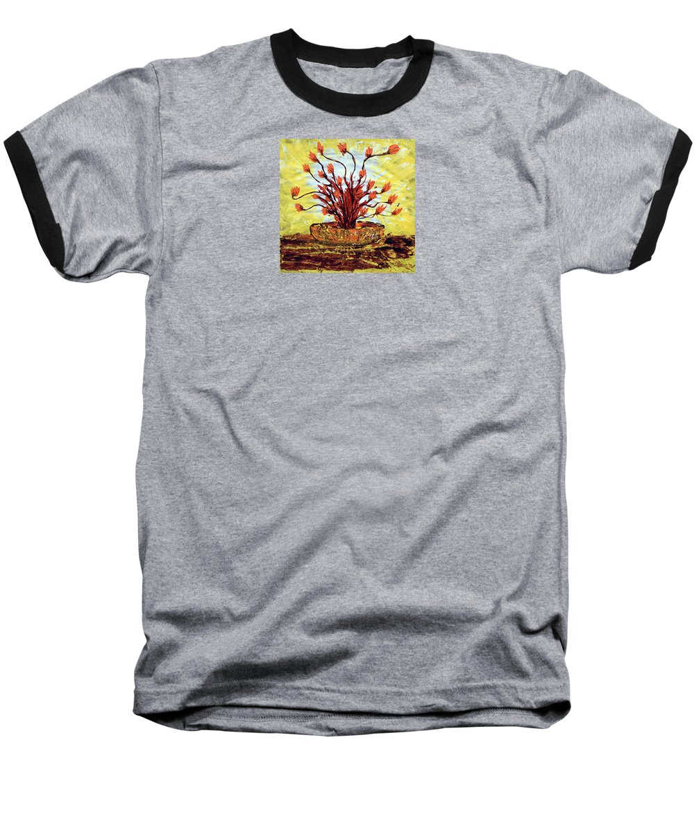 Impressionist Painting Baseball T-Shirt featuring the painting The Burning Bush by J R Seymour