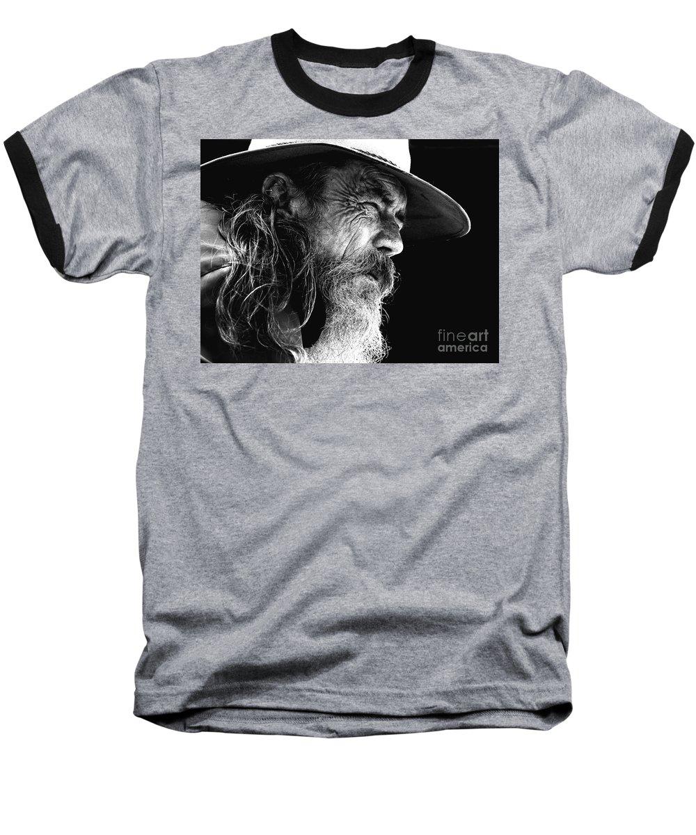 Australian Bushman Hat Baseball T-Shirt featuring the photograph The Bushman by Sheila Smart Fine Art Photography
