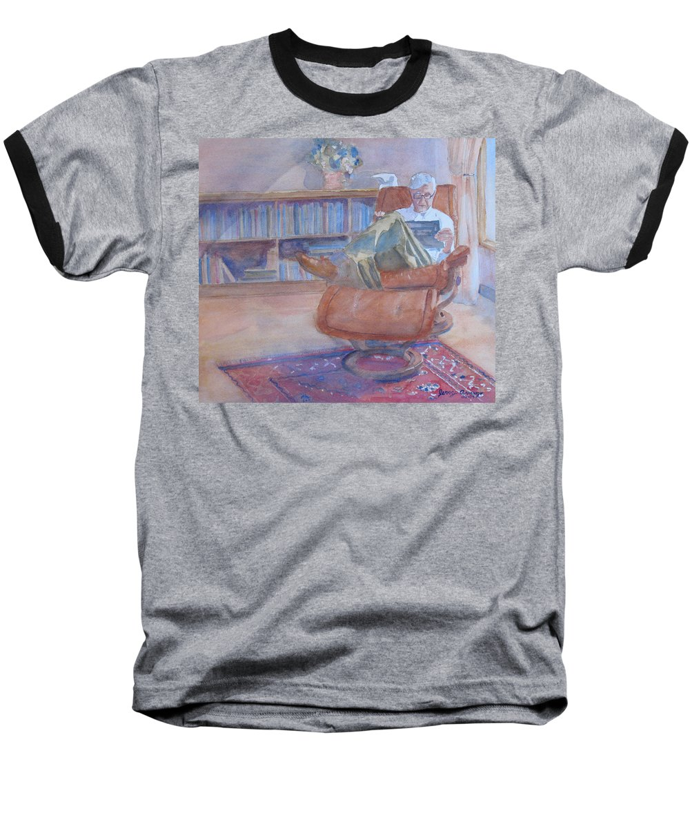 Man Baseball T-Shirt featuring the painting The Civilized Engineer by Jenny Armitage