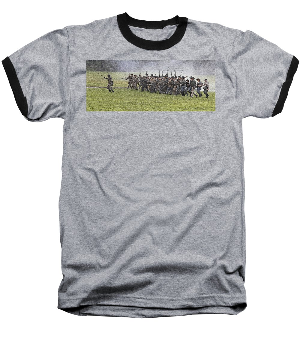 Civil War Baseball T-Shirt featuring the photograph The Conflict by Robert Pearson