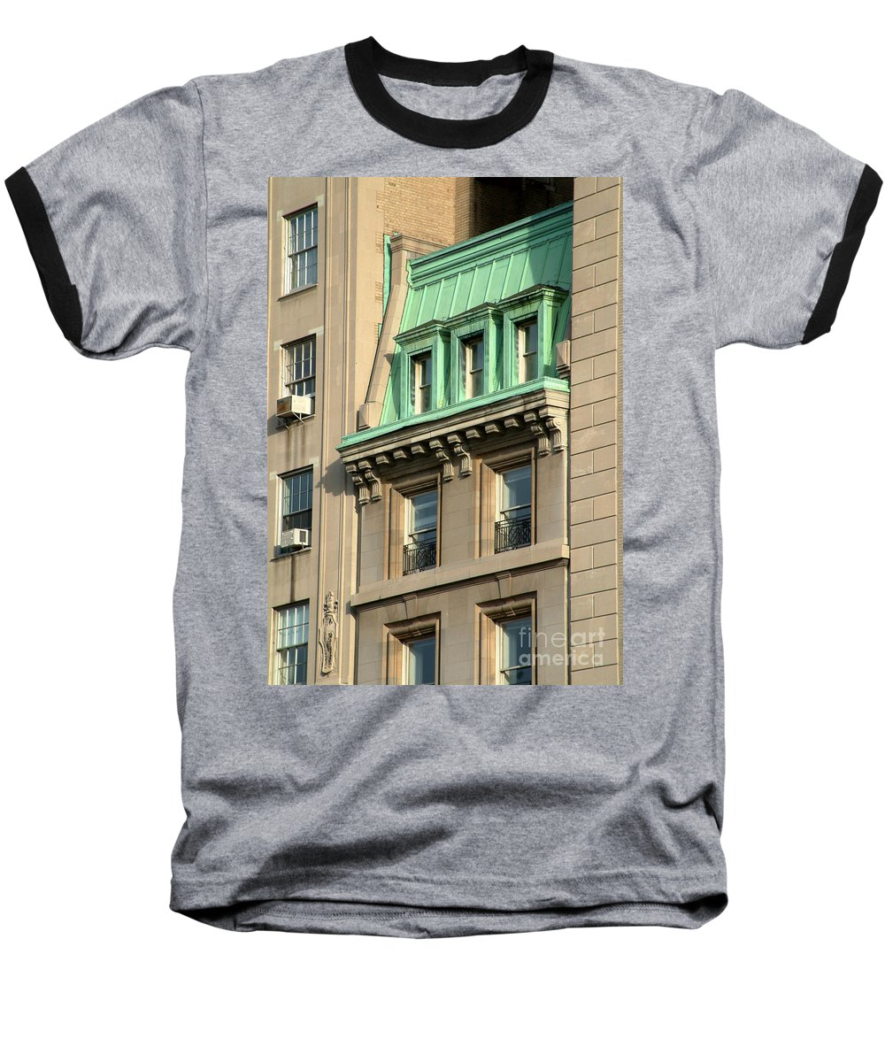 Apartments Baseball T-Shirt featuring the photograph The Copper Attic by RC DeWinter