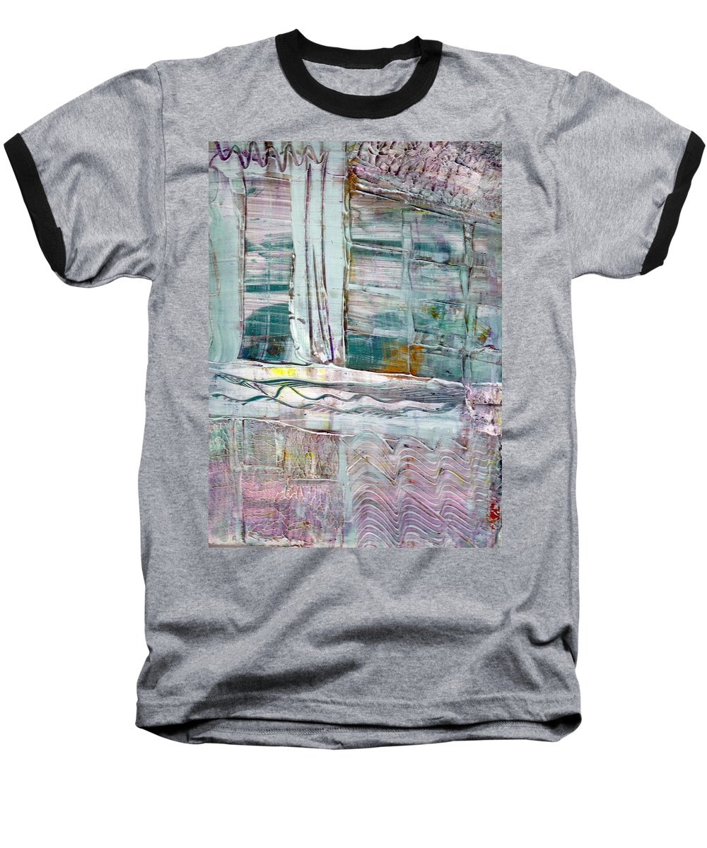 Abstract Baseball T-Shirt featuring the painting The Corner Window by Wayne Potrafka