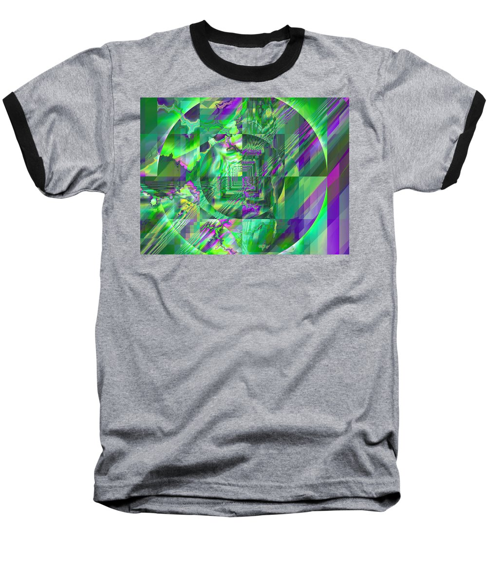 Fractal Baseball T-Shirt featuring the digital art The Crazy Fractal by Frederic Durville
