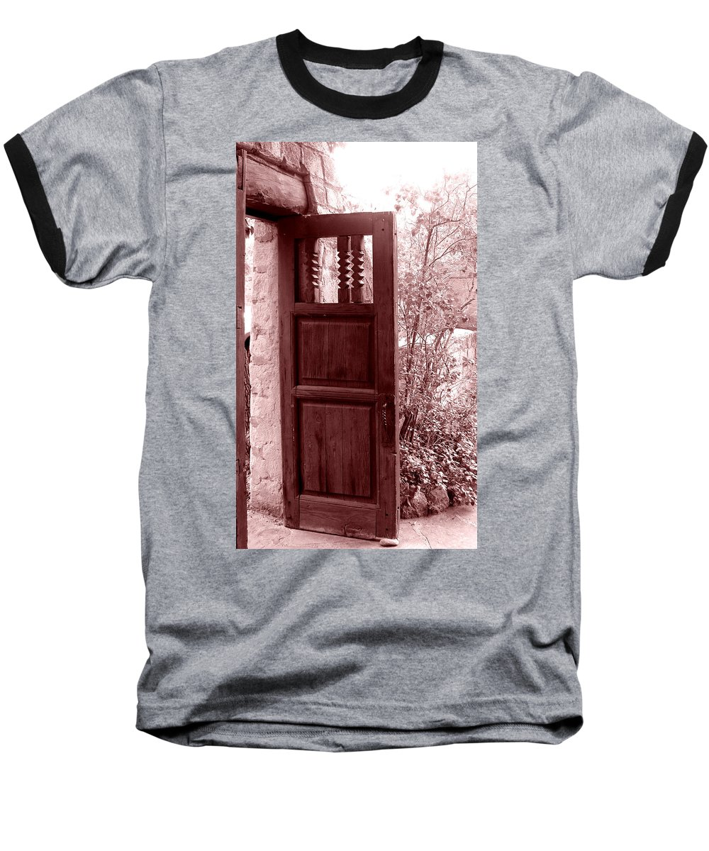 Door Baseball T-Shirt featuring the photograph The Door by Wayne Potrafka
