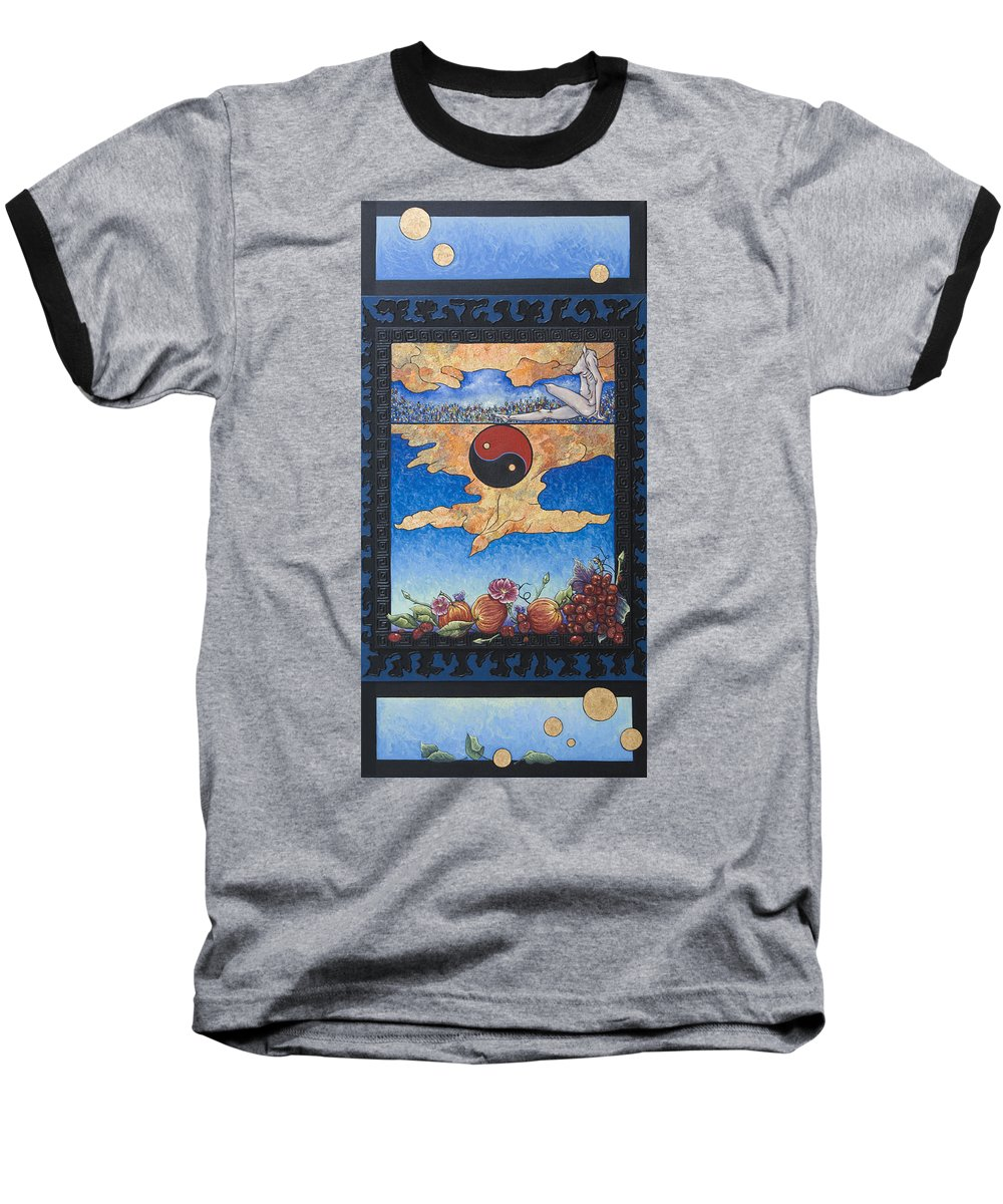 Karma Baseball T-Shirt featuring the painting The Dream by Judy Henninger