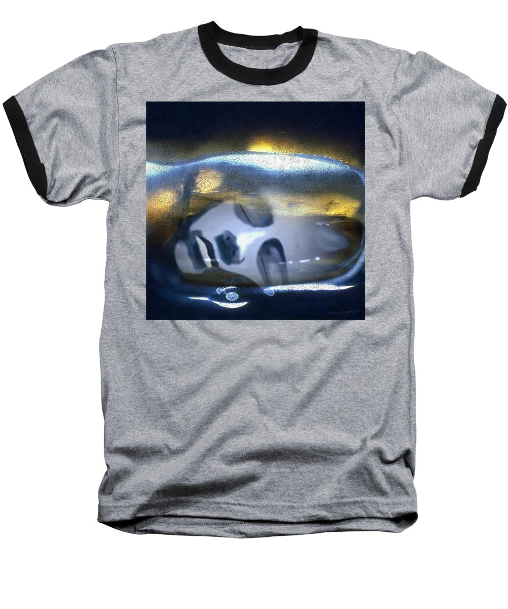 Dream Sky Universe Methaphysics Aura Afterlife Baseball T-Shirt featuring the digital art The Dream by Veronica Jackson