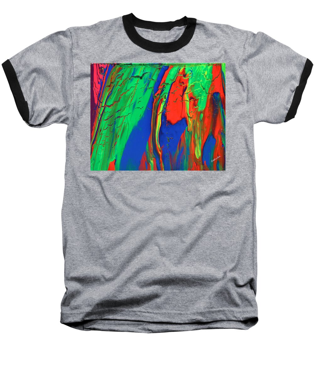 Fusionart Baseball T-Shirt featuring the painting The Escape by Ralph White